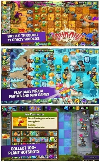 Plants vs Zombies 2- best free tower defense game for iPhone and other iOS devices