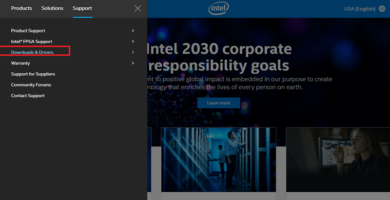 Download Drivers From Intel's Official Website