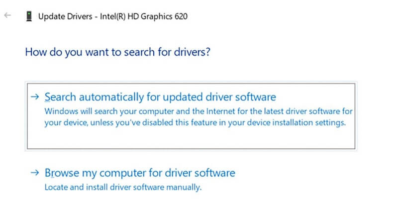 Update the Intel Graphics Drivers using Device Manager on Windows 10-1