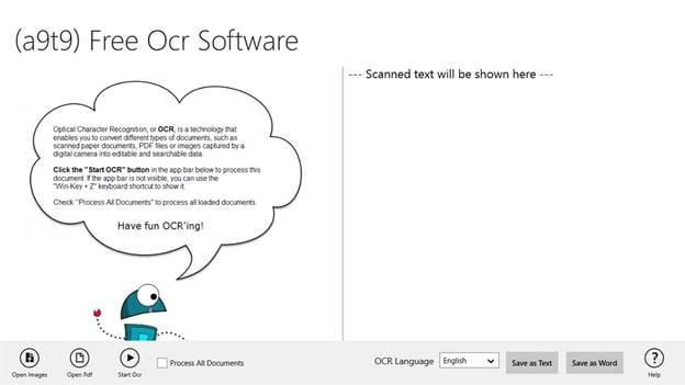 A9t9 Free OCR Software