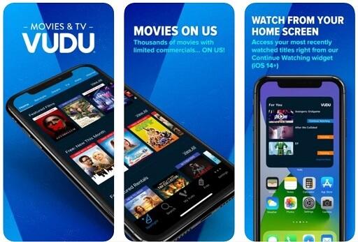 Vudu - Best Free movie streaming platform