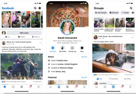 Facebook (Best Social Media App)