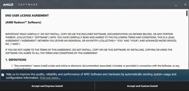 amd driver end user license agreement