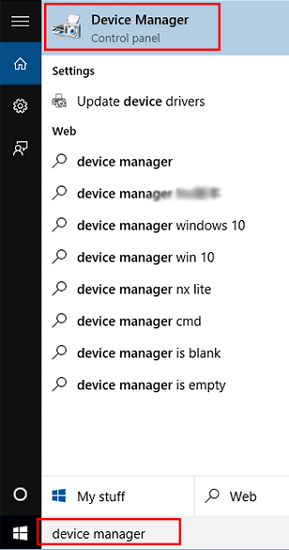 Use Device Manager