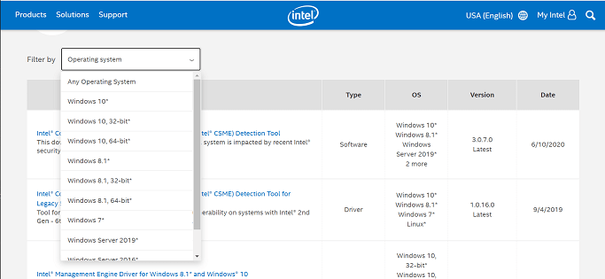 Update the Intel Management Engine drivers-1