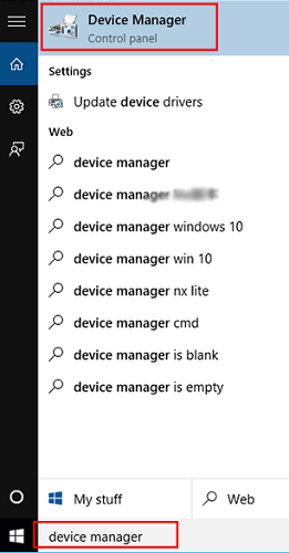 Install the network adapter driver again