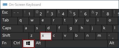 Press the Windows logo and X