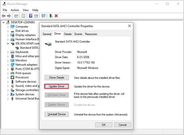 SATA AHCI Controller Update Driver