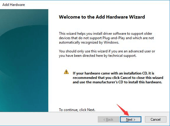 Use Device Manager's Add legacy hardware option-1