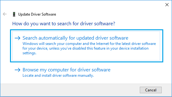 Use Device Manager to install HP drivers-1
