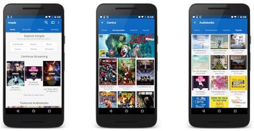 Hoopla Digital- unique app that provides free movies