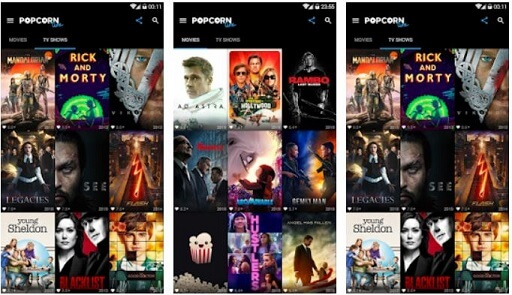 Popcorn Time- free movie app for android tablets