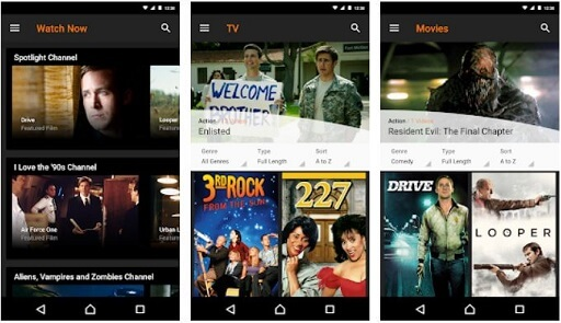 Crackle- best free movie apps for Android
