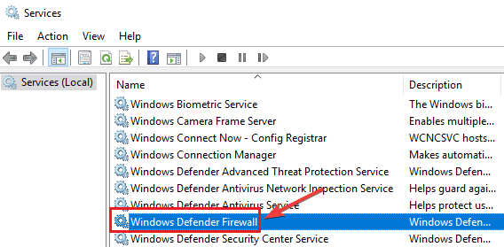Enable the Windows Defender Service