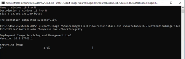dism export-image file
