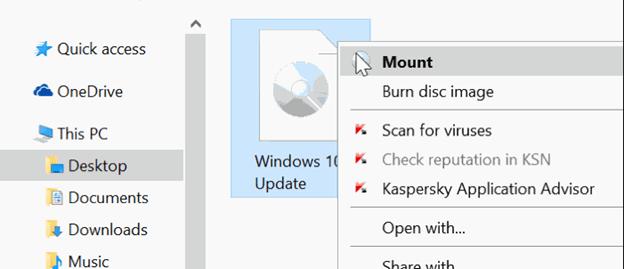mouse windows 10 ISO file