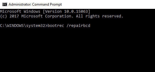 bootrec repairbcd command