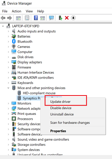Install Touchpad Driver using Device Manager-1
