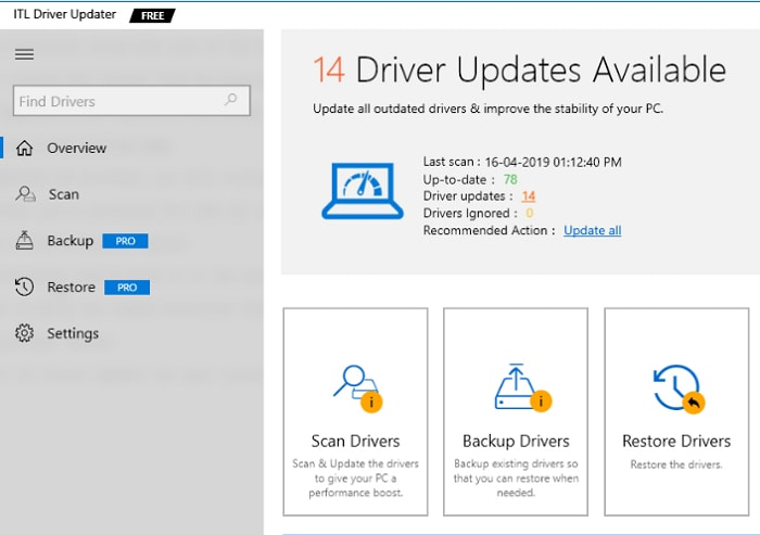 ITL driver updater software