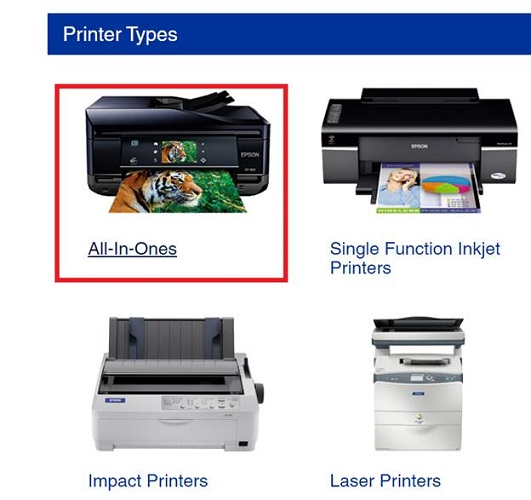 all in ones printer types