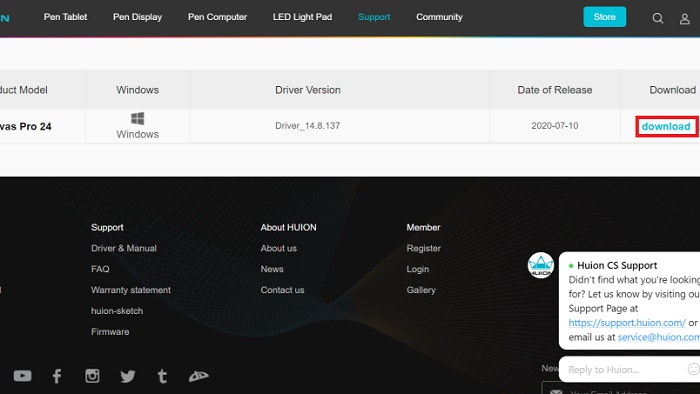 download huion driver