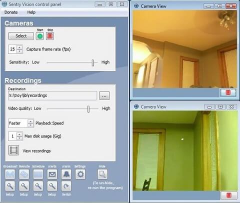 Sentry Vision- IP camera software recorder