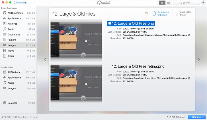 Gemini2- Free Duplicate Photo Finder