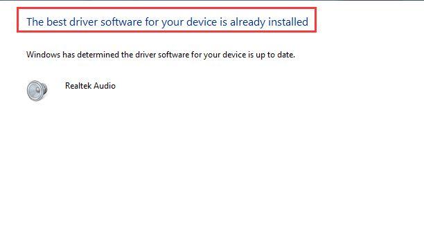 already installed best audio driver