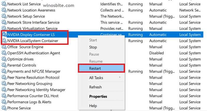 restart-NVIDIA-service