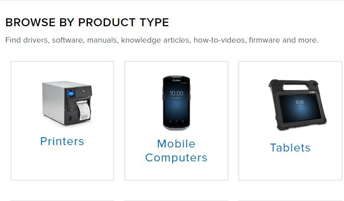 browse by product type for device driver