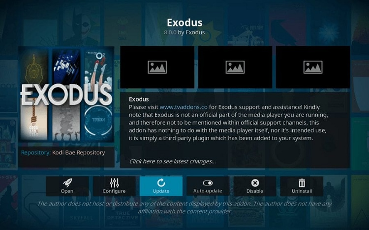 update exodus version