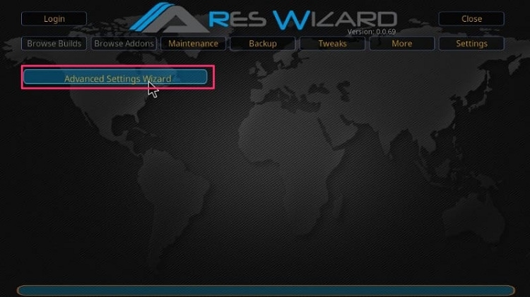 ARES WIZARD Advanced Settings Wizard