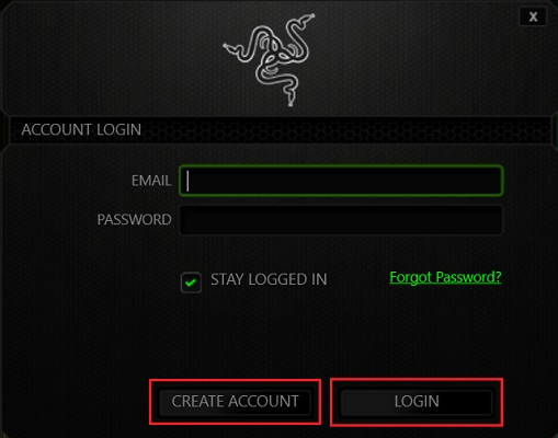 create Razer ID account and login