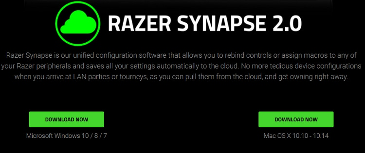 Download now razer synapse 2.0