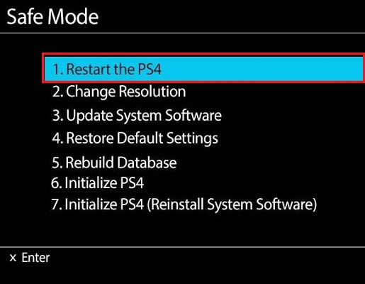 Choose the Restore to Default Settings option