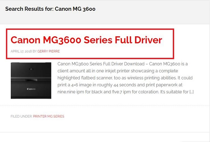 search result for search Canon MG3600