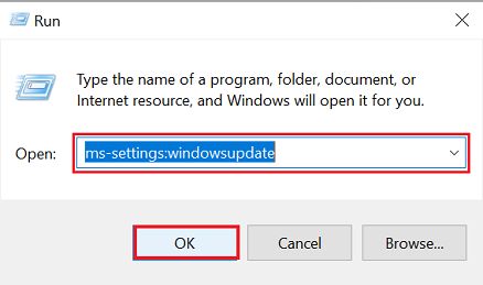 ms settings windows update