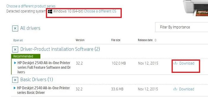 download HP DeskJet 2540 driver
