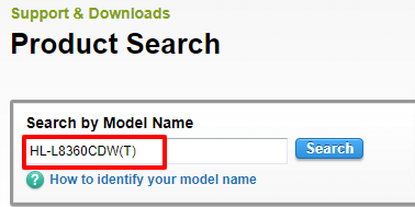 Search by Model Name