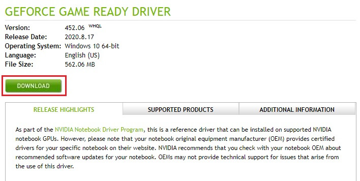download NVIDIA GeForce 940MX GPU option