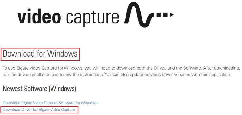 Download Driver for Elgato Video Capture