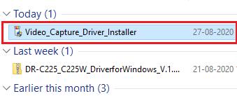 run Elgato Video Capture driver file