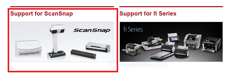 Support for ScanSnap