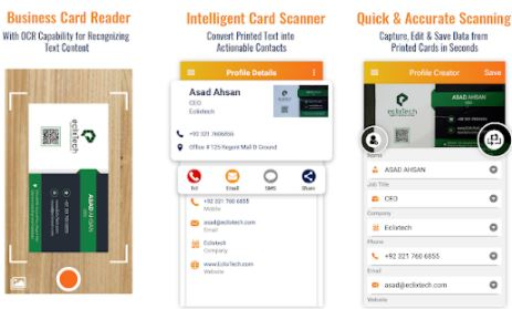 Business Card Scanner And Reader