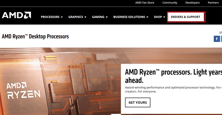 Download AMD RX 570 drivers from the website