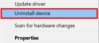 Reinstall the Display Driver with device manager