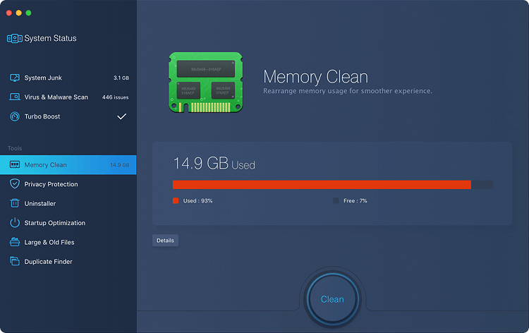 CleanMyMac X MacBooster 8 Comparing the features