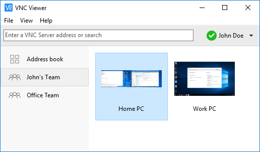 VNC Connect - One of the most secure free software similar to TeamViewer
