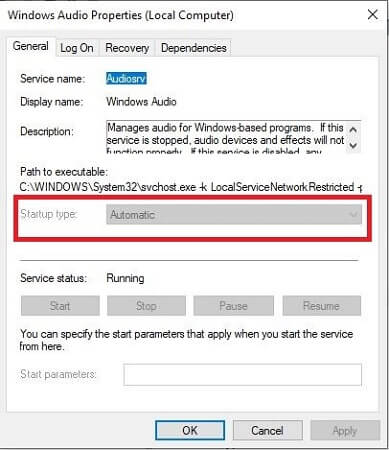 Configure Windows Audio Service-2