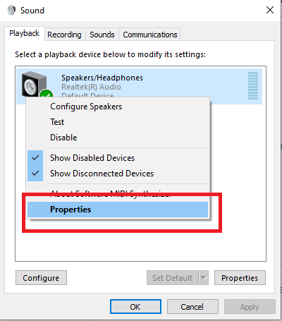 Disable Audio Enhancements